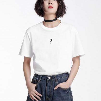 Question Mark Crew Neck Short Sleev..