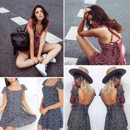 Summer sundress Women clothing Sexy..