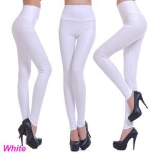 Sexy Women Faux Leather Stretch Hig..