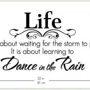 Wall Decal Quotes - Life Dance In T..