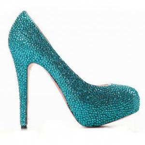 Gorgeous High Heel Rhinestone Fashi..
