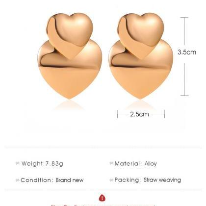 Heart-shaped Earrings for Women Sta..