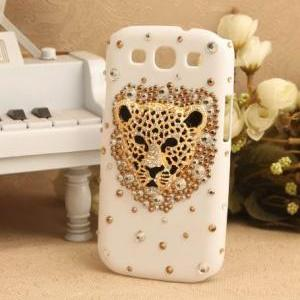 S5Q Bling Crystal Leopard Case Cove..