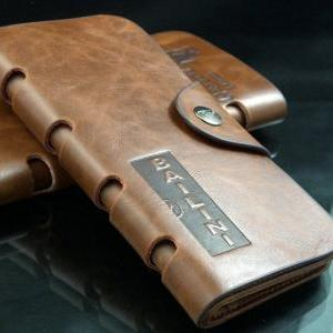New custom leather wallets cute Men..