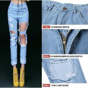 New Fashion Women High Waist Loose ..