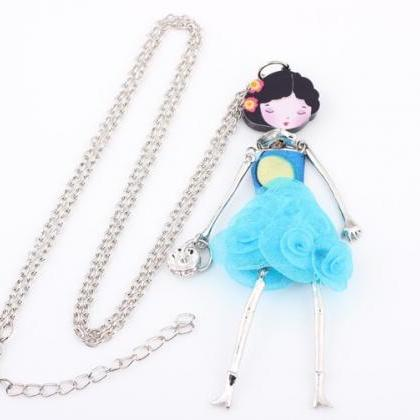 French Paris Doll Necklace Dress F..