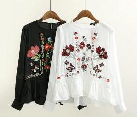 Floral Embroidered C..