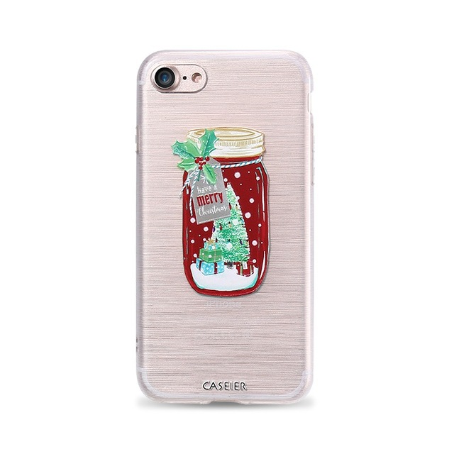 *Free Shipping* Phone Case For iPhone 7 8 Plus Soft TPU Merry Christmas Cover For iPhone 7 8 Plus Relief Silicone Winter phone Case Capa 32792625841