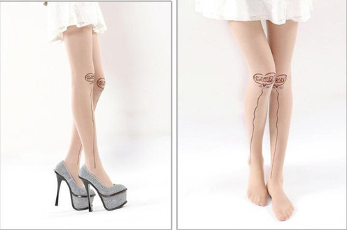 Japanese Harajuku Stocking balloon printed sexy Tattoo Transparent Tights leggings Pantyhose Stockings