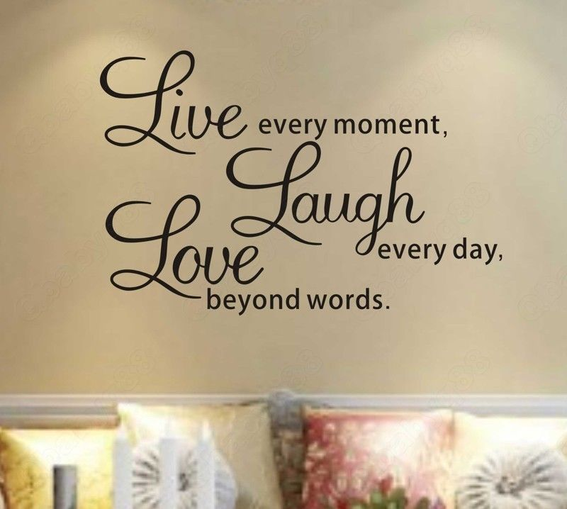 Vinyl Love Quotes Mesmerizing Wall Decal Quotes  S5Q Diy Live Laugh Love Quote Vinyl Decal
