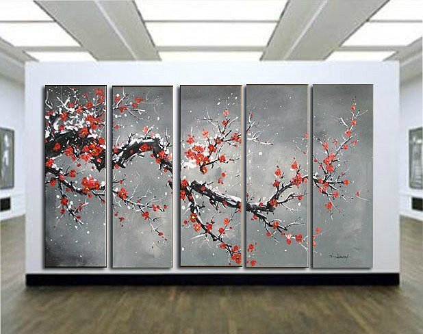 Home decoration wall art 100% Handpainted flower oil painting
