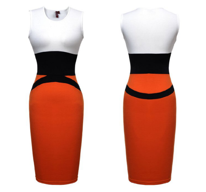 new Red Womens Celebrity Midi Bodycon Ladies Pencil Evening Slimming Panel Tea Dress WC25