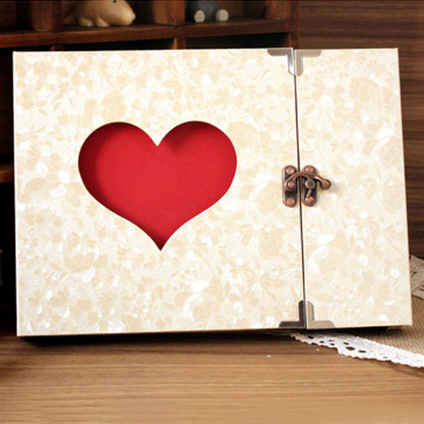 New 10 inch Wedding Photo Album Handmade Vintage Photo Frame Lover Diy Album Photo Baby Album De Fotos Scrapbooking 31 Pages