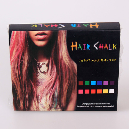 New Style Non-Toxic 12 Color Hair Chalk Color Dye Pastel Chalk