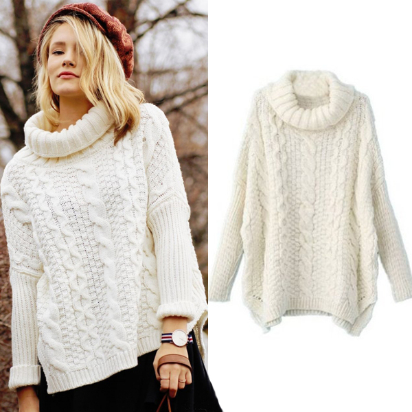 Autumn New Fashion Sweaters Women Casual White Long Sleeve ...