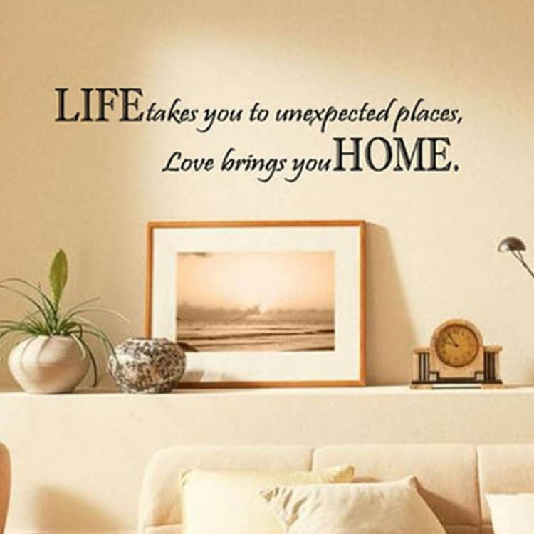 Wall Decal Quotes Life Takes You Unexpected Places Love