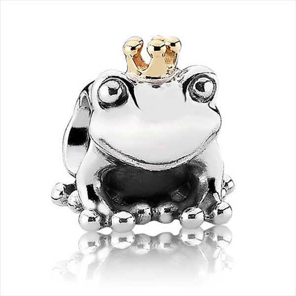 *Free Shipping* Frog Prince 925 Sterling Silver European Charms Silver Beads Compatible With Snake Chain Bracelets