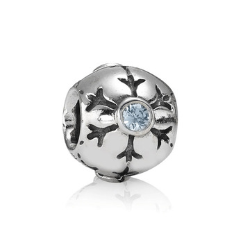 *Free Shipping* 925 sterling silver SNOWFLAKE charms beads Bracelet 790 367CZA ball European bead DIY europe Style