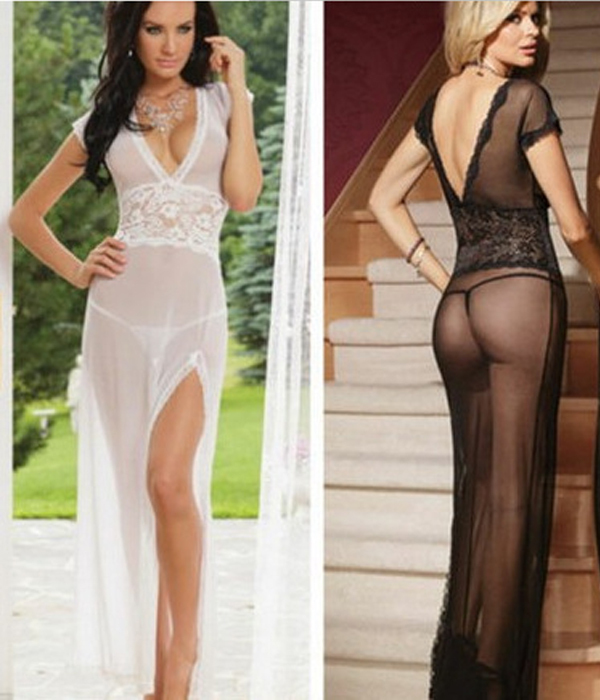 ac07766c902  Free Shipping  plus size lace Transparent Net Yarn erotic costumes  underwear dress summer style