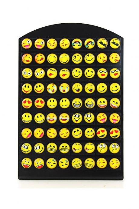 *FREE SHIPPING* New Design 36 Pairs Emoji Funny Happy Face Stud Earring for Women Girls Trendy Ear Jewelry Gifts 32816372716