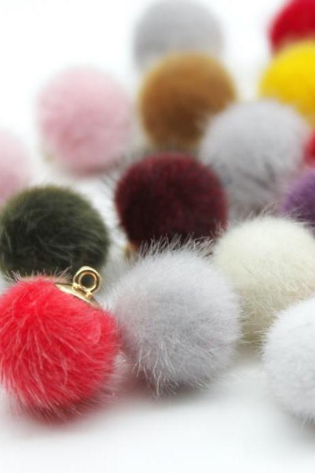 *Free Shipping* Imitation Wool Ball Stuff Goods Eardrop Pendant Charms Earrings Accessories Supplies for Jewelry Finding Diy Material 12pcs 32830530914