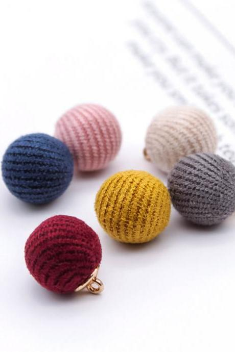 *Free Shipping* Imitation Wool Ball Stuff Goods Eardrop Pendant Charms Earrings Accessories Supplies for Jewelry Finding Diy Material 12pcs 32840453232