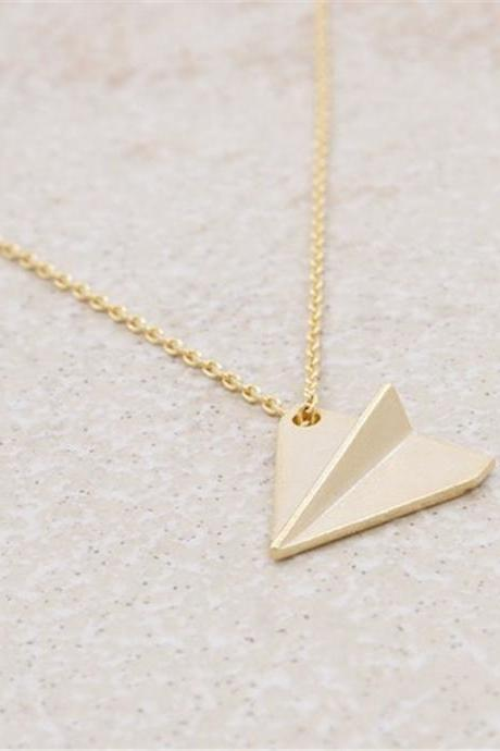 *Free Shipping* Simple Personality Origami Jewelery Necklace Jewelry. Small Origami Airplane Childhood Memory.Gift For Children or Friends 32794666477