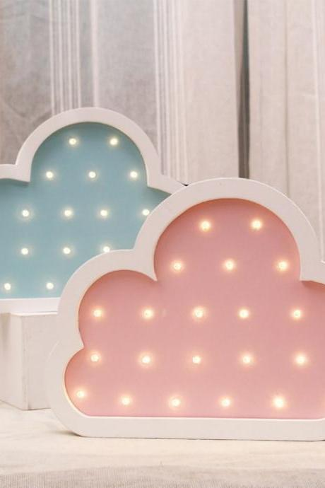 Europe style cloud wooden lights fashion Marquee night light LED environmental children's room decoration pendant wall light 32846937845