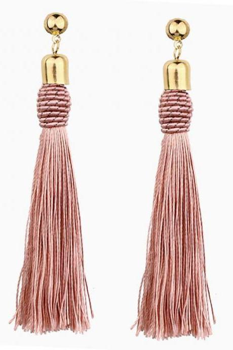 *Free Shipping* Ethnic Vintage Big Yellow Long Tassel Earrings Luxury Maxi Green Silk Thread Ethnic Bohemian Earrings For Women Jewelry Gift 32852739677