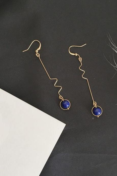 *Free Shipping* Retro handmade stone small domestic wholesale jewelry earrings for women drop earrings jewelry earrings Bijoux 32862652533