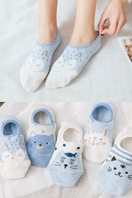 5Pairs Women Cute Cat Socks 4000089256219