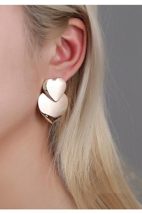 Heart-shaped Earrings for Women Statement Vintage Geometric Gold Dangle Drop Earrings 2020 Female Wedding Fashion Jewelry 4000941186984