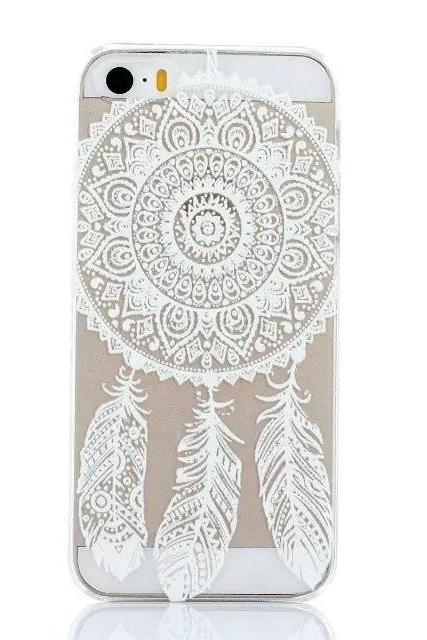 *Free Shipping* New Plastic Hard Back Case Cover For iPhone 4 4S 4g 5 5S 5g HENNA OJIBWE DREAM CATCHER Ethnic Tribal 32393068169
