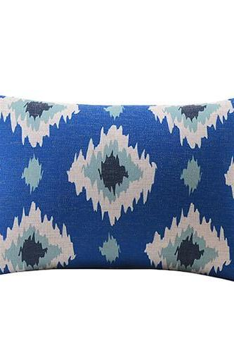 *Free Shipping* Blue Polygon Design Cotton linen Throw Pillow Wedding decoration Square everything for office hotels club nap sofa cushion 32323465519