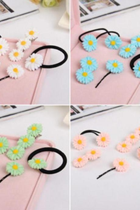 *Free Shipping* Vivid Daisy Flower 3 Colors Different Types of Headwear Hair Cips Elastic Band Barrettes for Girls Hair Accessories for Women 32532577832