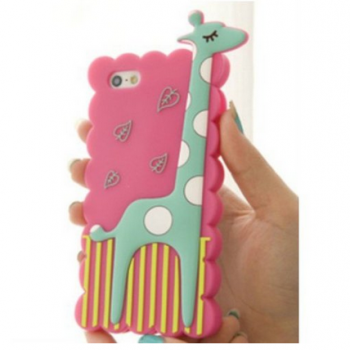 S5Q Animal Giraffe Silicone Soft Case Cover Back Skin Protector For iPhone 5 5S AAACKV