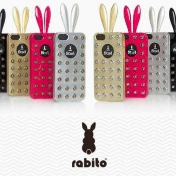 newest arrival! Korean Rabito rivet rabbit stud fashion mobile phone cases for Apple iphone 5/5S 4colors TPU