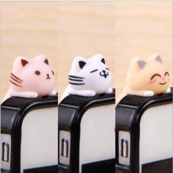 [ Hot ] plugy Korea squatting 807 cats climb Bottom iphone Samsung millet phone dust plug dust plug