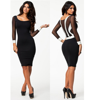 * Ship From USA * Free Shipping * New Vestidos Femininos Women Long Sleeve Spring Dress Sexy Bodycon Bandage Dress Club Party Dress HW0033